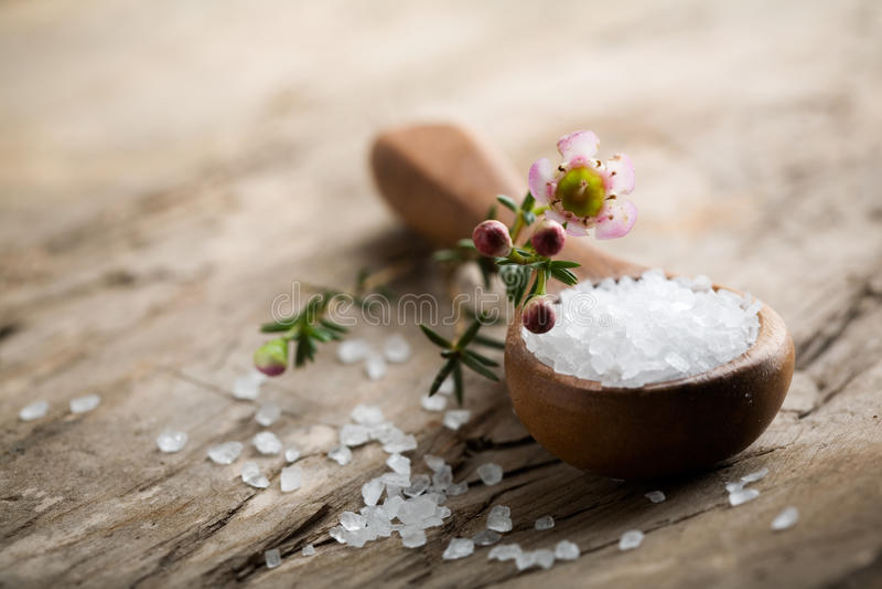 salt bad arkivfoton