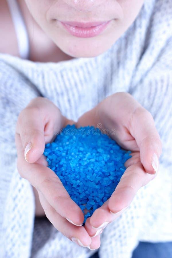 salt badblue royaltyfria foton