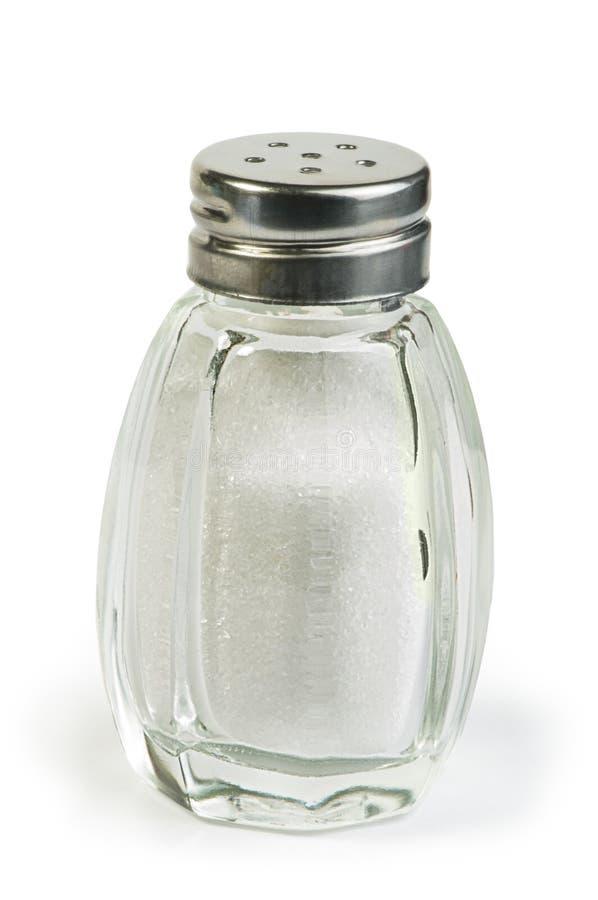 Salt on black background stock photography