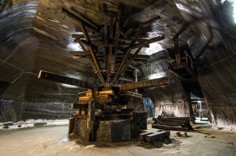 Salt extraction Turda stock photography