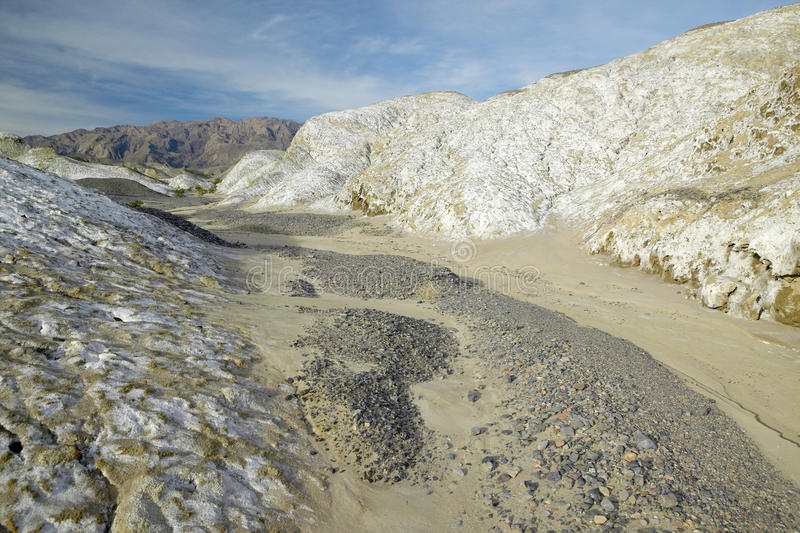 Salt Flats in the spring of Death Valley National Park, CA royalty free stock photo