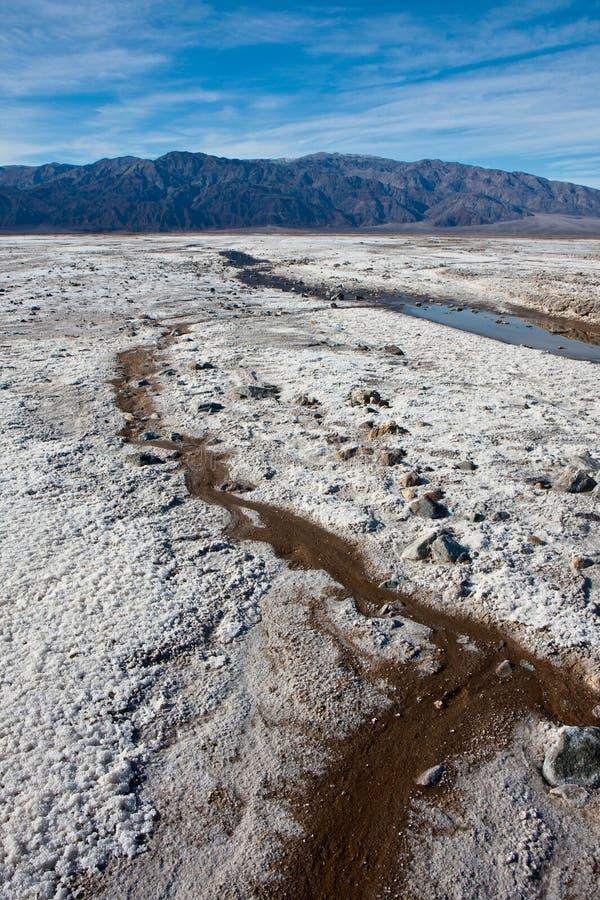 Salt Flats Streams royalty free stock image