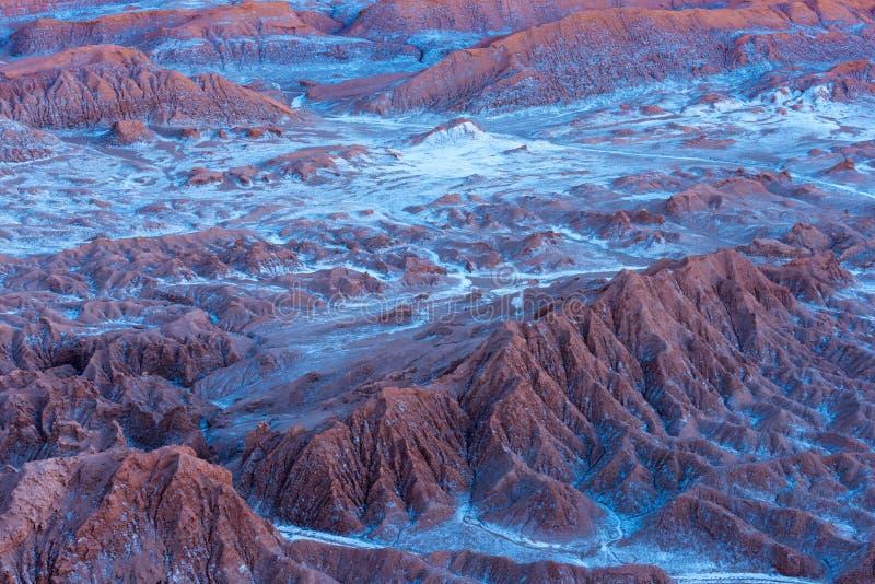 Salt formations at Valle de la Luna, Atacama Desert, Chile royalty free stock image