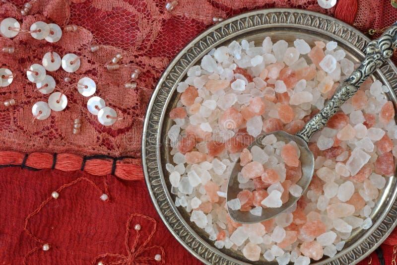 salt himalayan pink arkivbilder