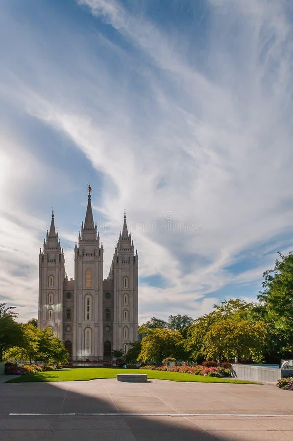 Salt Lake świątynia zdjęcie stock