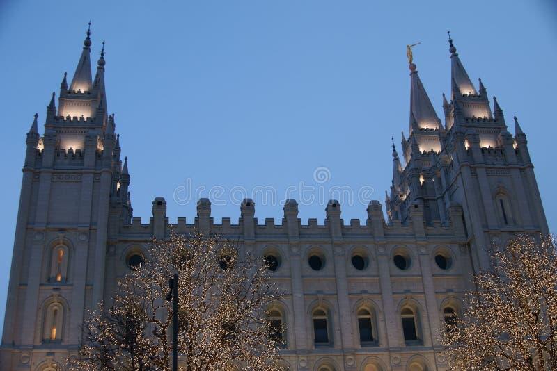 Salt Lake City świątynia zdjęcia royalty free
