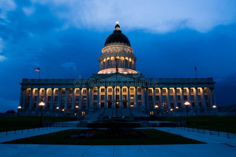 Salt Lake City Capitol. Utah, U.S.A. at sunset stock images
