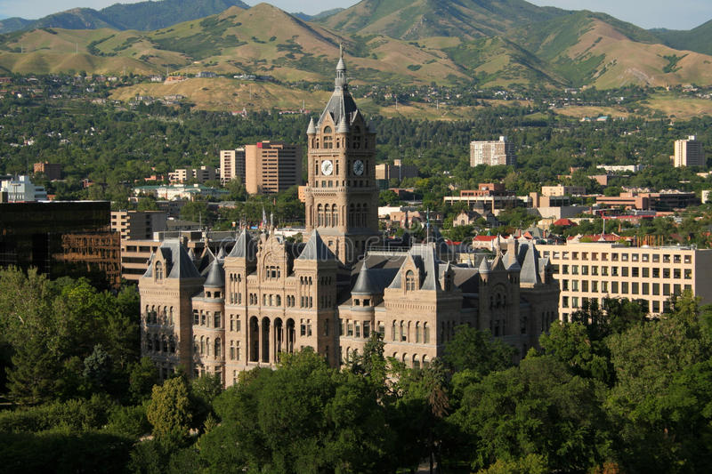 Salt lake city and county building stock photography