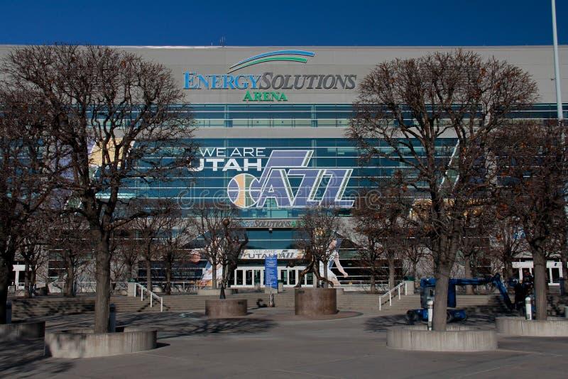 Salt Lake City: Energie-Lösungs-Arena lizenzfreie stockfotos