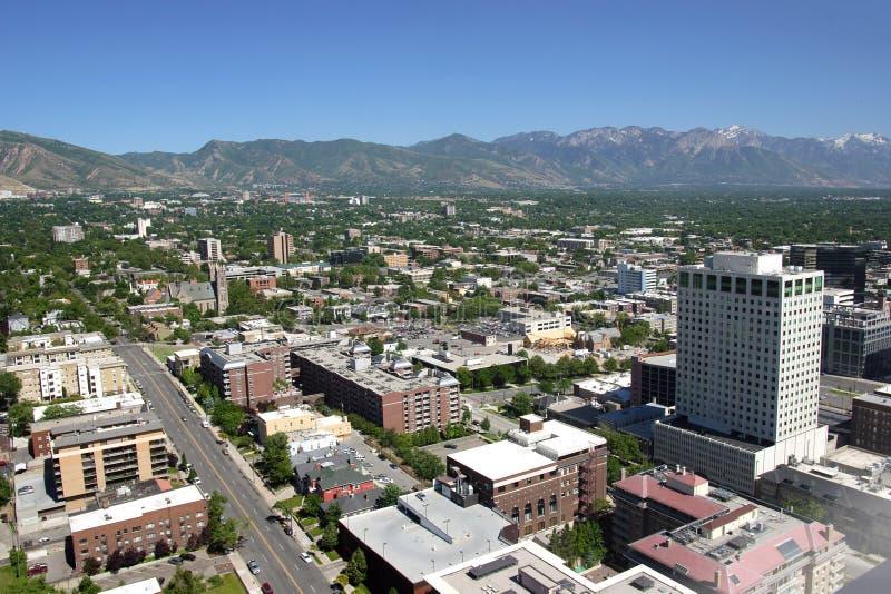 Salt Lake City est, vue et montagnes Utah de ville. photographie stock libre de droits
