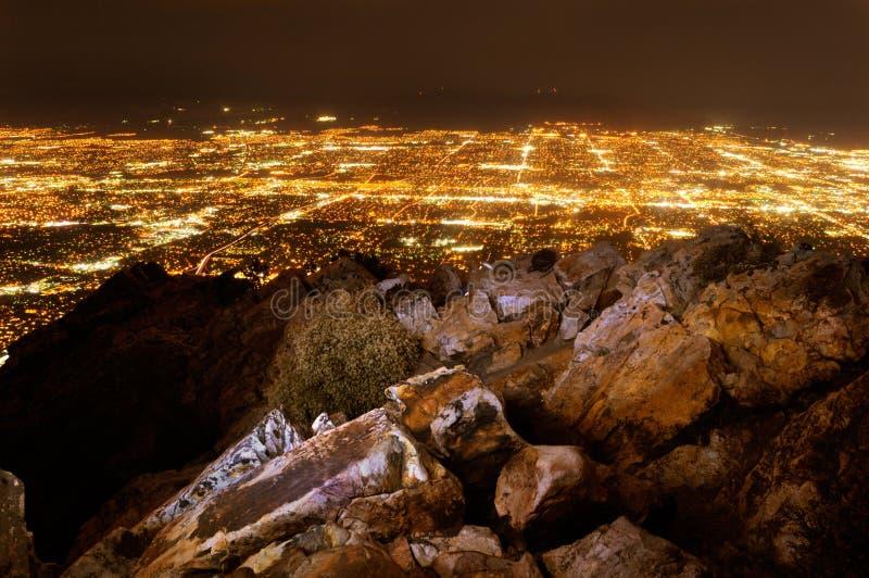 Salt Lake City na noite foto de stock royalty free