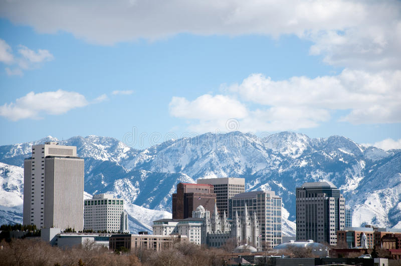 Salt Lake City-Skyline lizenzfreies stockfoto