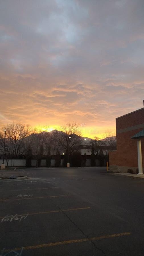 Salt Lake City Sunrise royalty free stock image