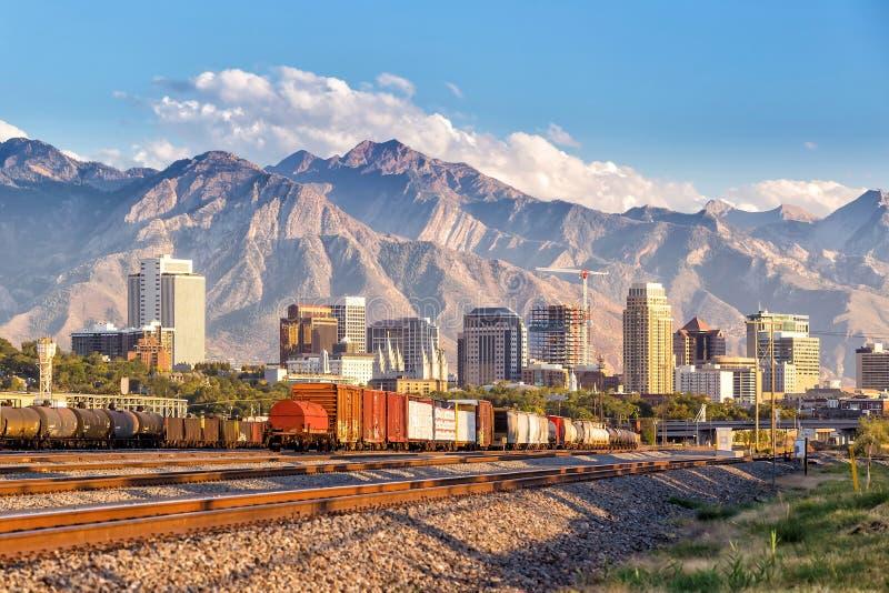 Salt Lake City van de binnenstad, Utah stock foto's