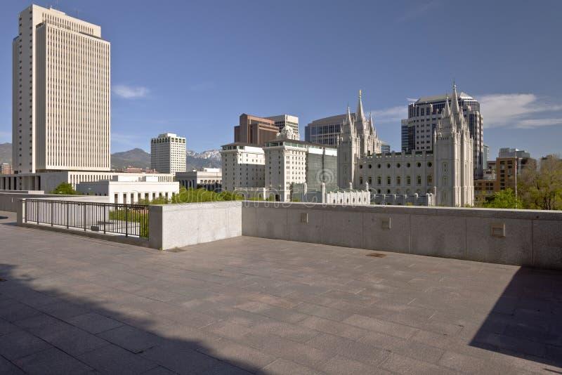Salt Lake City veduta da un terrazzo immagine stock