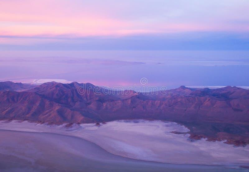 Salt Lake góry wschód słońca fotografia royalty free