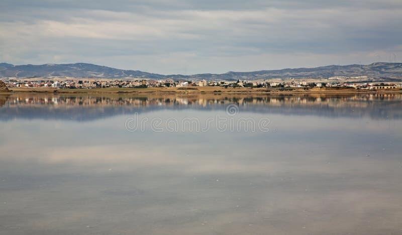 Salt Lake a Larnaca cyprus immagine stock libera da diritti