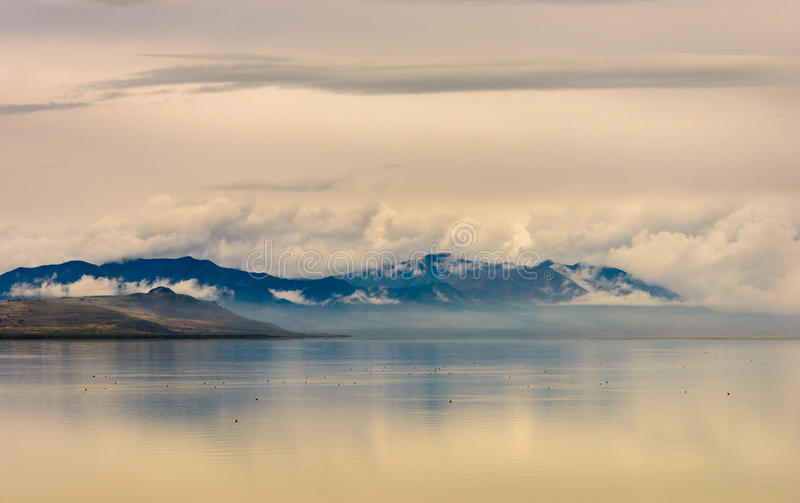 Salt Lake panorama royaltyfri fotografi