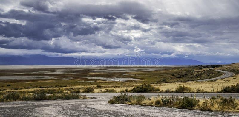 Salt Lake panorama arkivfoton