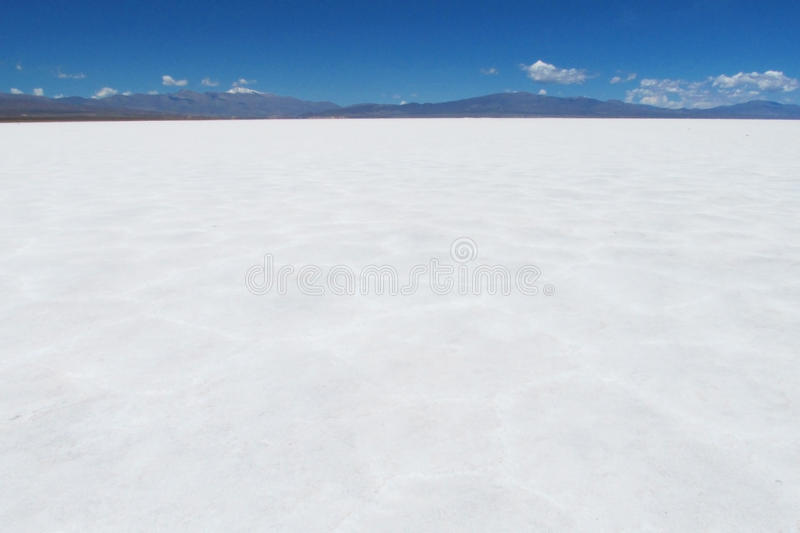 Salt lake plato stock image