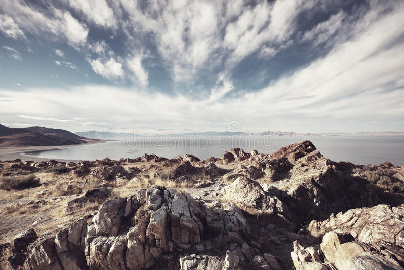 Salt lake royalty free stock photos