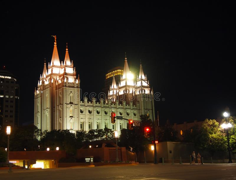 Salt Lake tempel i Salt Lake City Utah royaltyfria foton