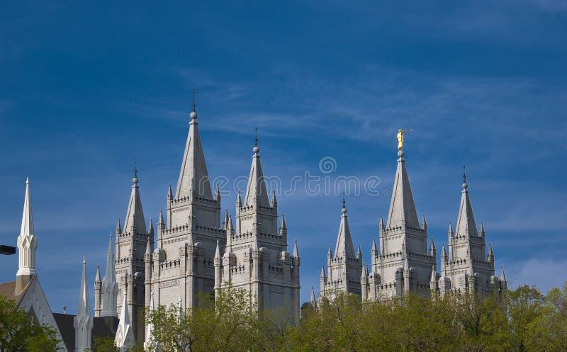 Salt Lake Temple royalty free stock photo