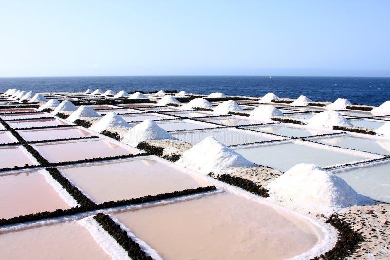 Salt evaporation ponds royalty free stock image