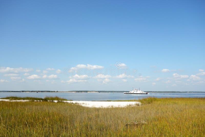 Salt marsh, North Carolina royalty free stock images