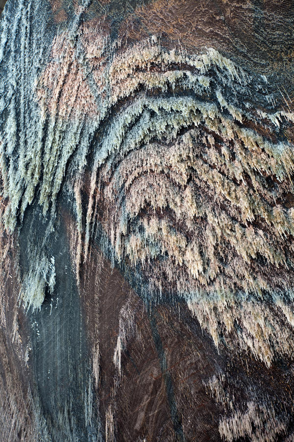 Salt mine. Wall texture from a salt mine royalty free stock photo