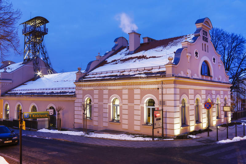 Salt Mine and the historic Regis Shaft, Wieliczka, Poland. Tourists attraction stock image