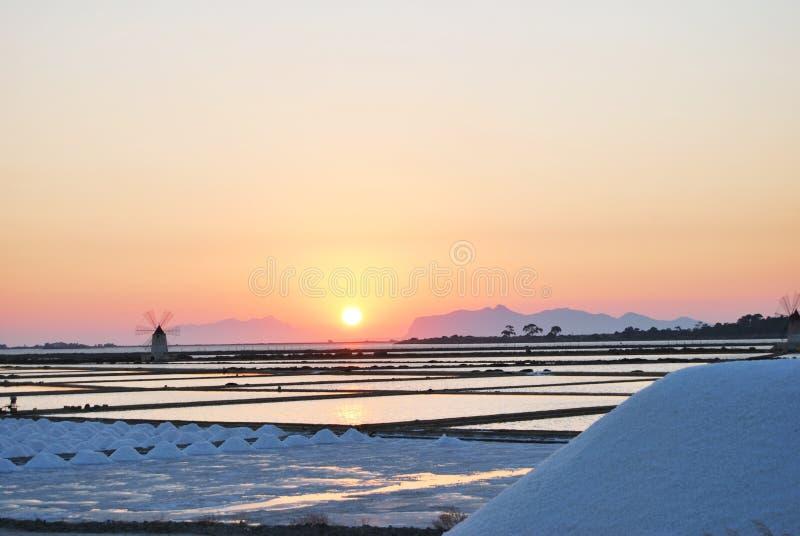 Salt mine of Marsala royalty free stock photos