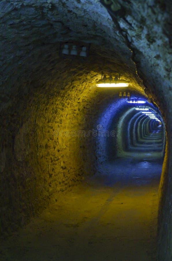 Salt mine tunnel stock photos
