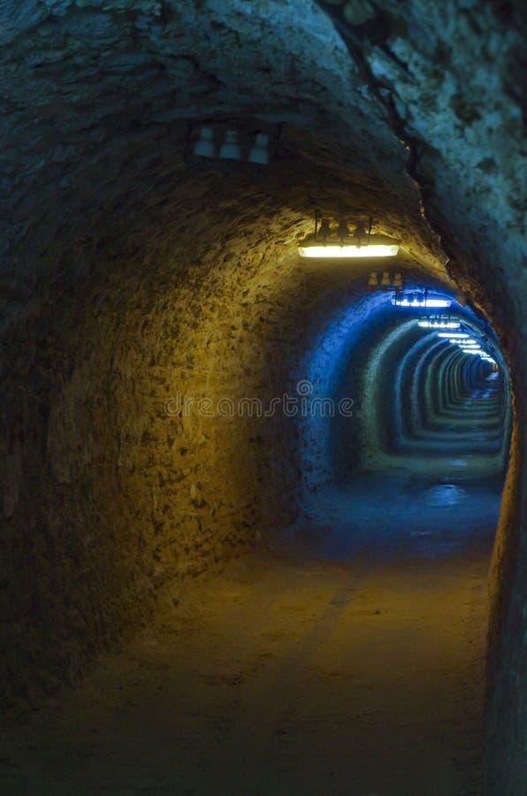 Salt mine tunnel royalty free stock photography
