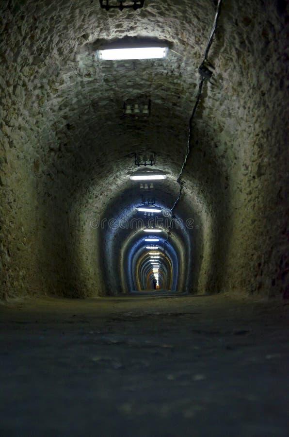 Salt mine tunnel royalty free stock photos