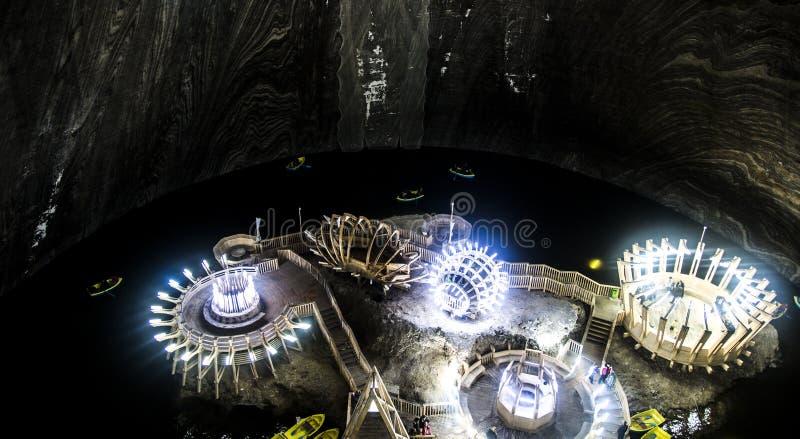 Salt Mine Turda, Salina Turda stock photos