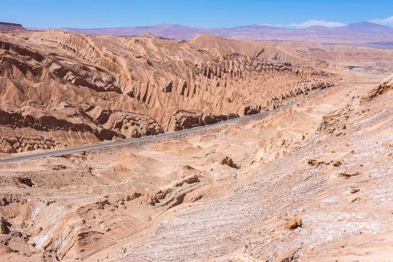 Salt Mountain Range, San Pedro de Atacama, Chile stock photo