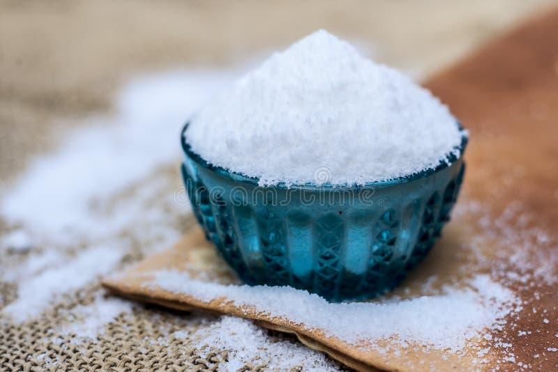 Salt också bekant för tabell som natriumkloriden royaltyfri bild