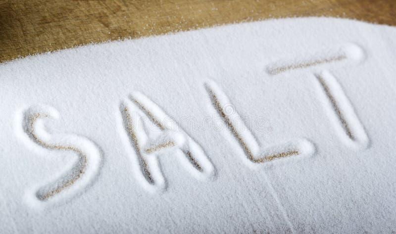 Salt ord arkivfoton