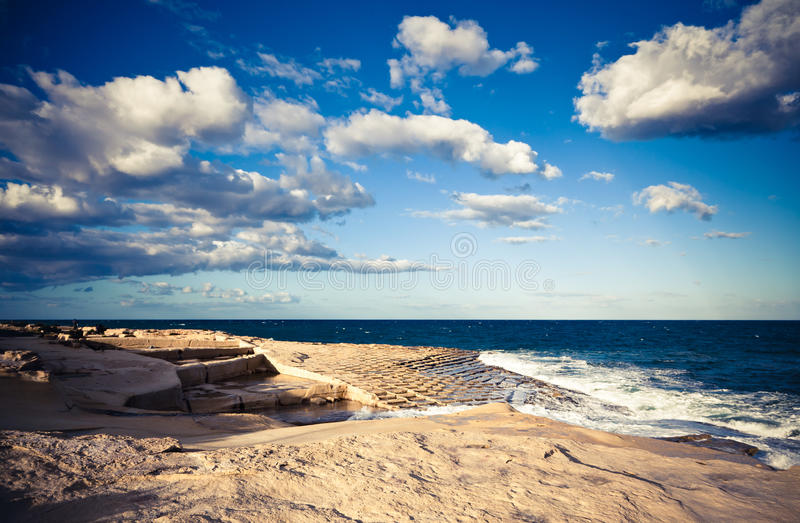 Download Salt pans stock photo. Image of clouds, blue, pans, rough - 23079180