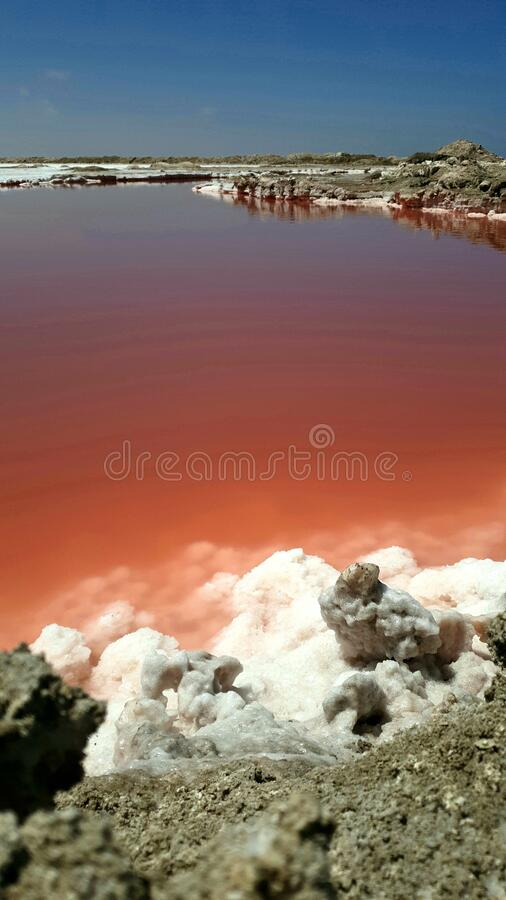 Salt pans, Namíbia foto de stock royalty free
