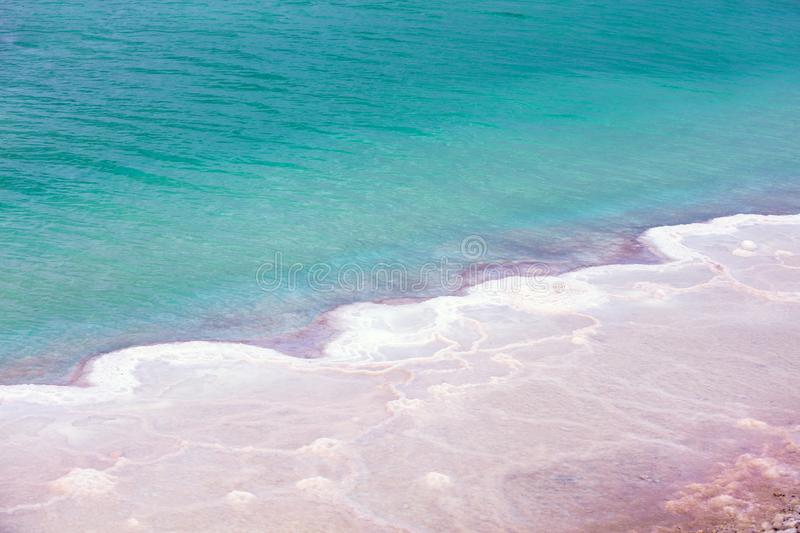 A salt pattern of the Dead Sea royalty free stock photo