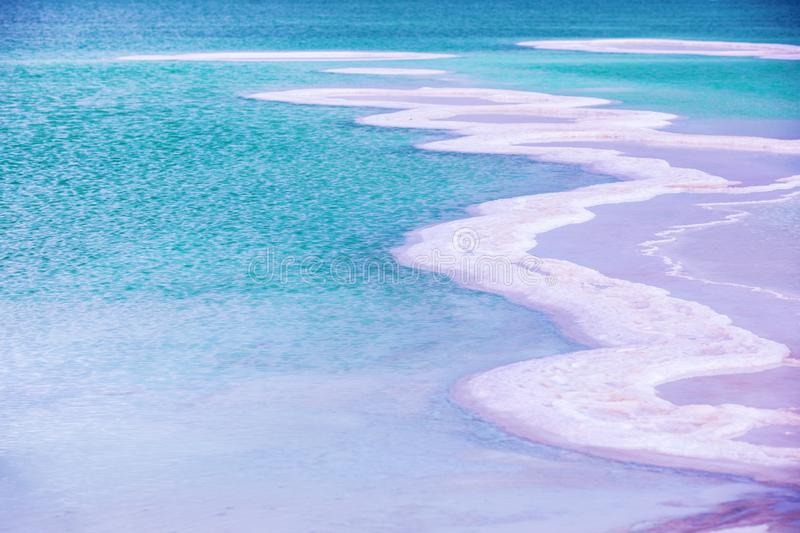 A salt pattern of the Dead Sea royalty free stock image