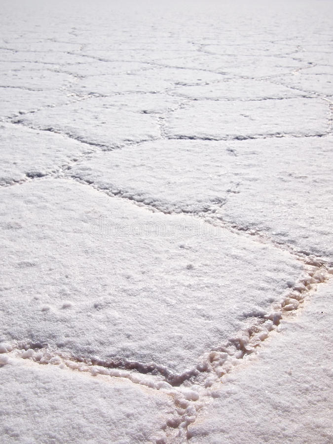 Salt pattern in the Salar de Uyuni royalty free stock images