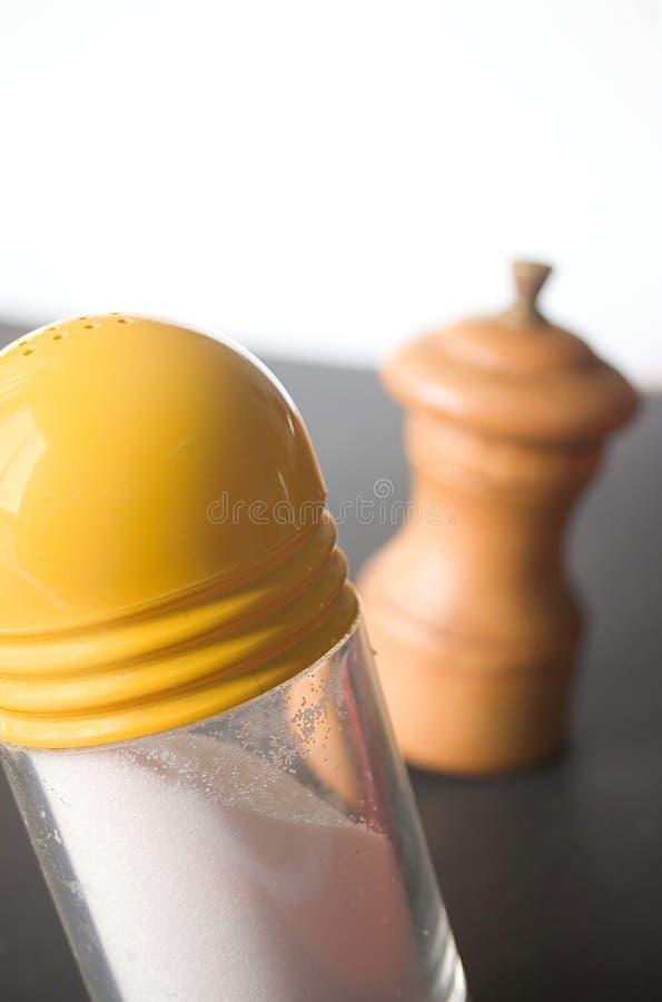 Download Salt peppar fotografering för bildbyråer. Bild av mess, kokkonst - 27651