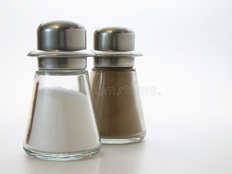 Download Salt and pepper stock photo. Image of eating, pepper, plate - 103420
