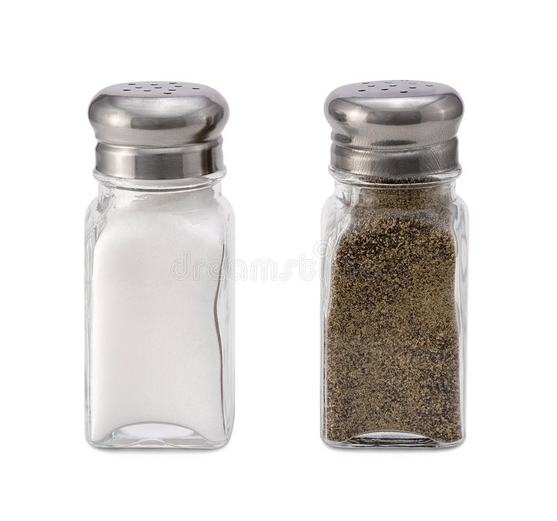 Salt and Pepper. Isolated on a white background. Isolation is on a transparent layer in the PNG format