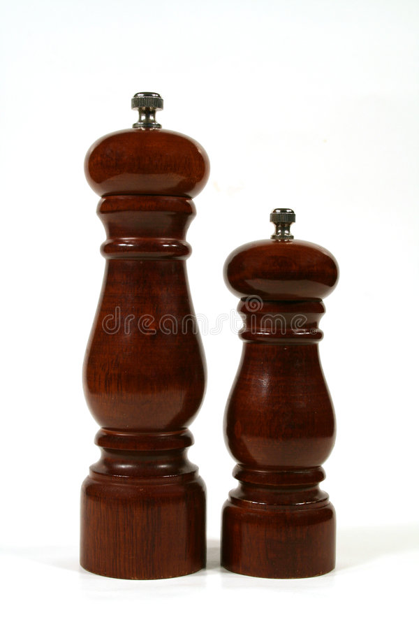 Salt And Pepper Mills stock photography