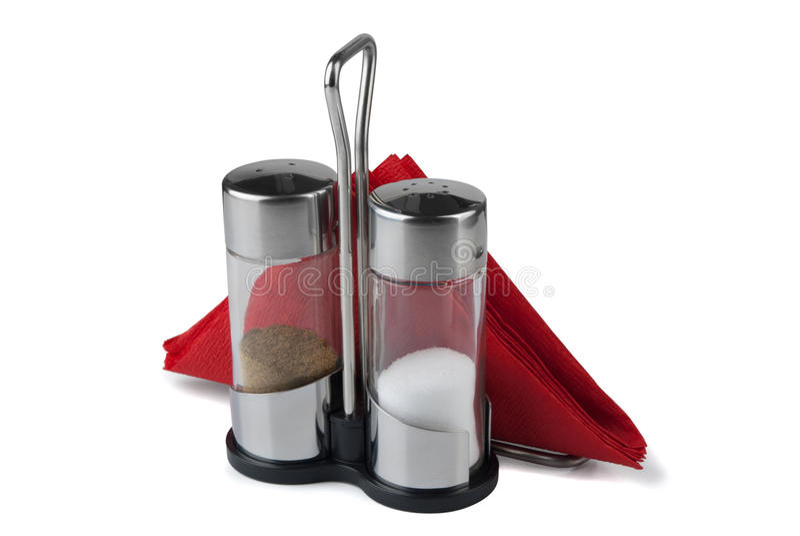 Salt, pepper and napkin