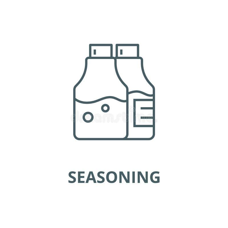 Salt and pepper,seasoning vector line icon, linear concept, outline sign, symbol. Salt and pepper,seasoning vector line icon, outline concept, linear sign royalty free illustration